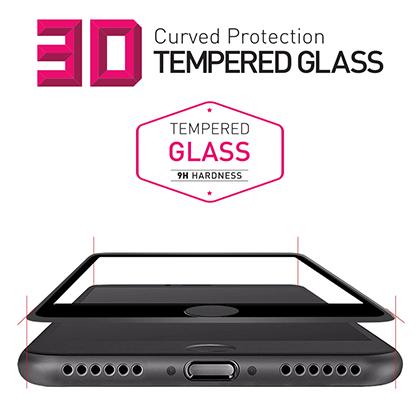 애플 아이폰7 전용 풀 커버 3D 강화유리 액정보호필름