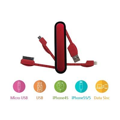 간편한 멀티 USB 데이터 케이블 4 in 1 / 다양한 기기 충전 가능